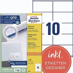 Universal-Etiketten Avery Zweckform 3425 105x57mm weiß 100 Blatt/1.000 Stück