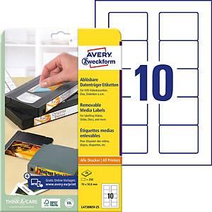 Etiquettes Zweckform L4738REV-25 70,0x50,8 mm, emb. de 250 pièces
