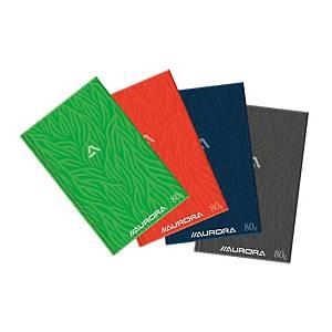 Aurora genaaid gebonden register 210 x 330 mm, geruit 5 x 5 mm, 96 vellen