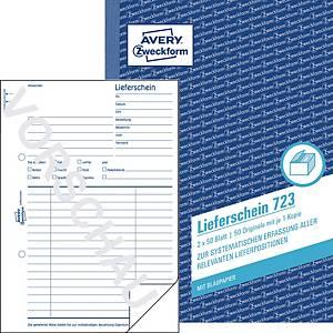 Lieferschein Avery Zweckform 723, A5, mit Blaupapier, 2x50 Blatt