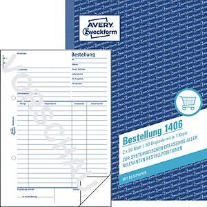 Bestellung Avery Zweckform 1406, A5, mit Blaupapier, 2x50 Blatt
