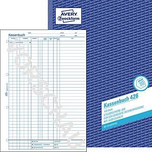 Kassenbuch Avery Zweckform 426, A4, EDV-gerecht, mit Blaupapier, 100 Blatt