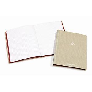 Registre à reliure cousue Aurora, 145 x 220 mm, carreaux 5 x 5 mm, 96 feuilles