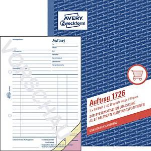 Auftrag Avery Zweckform 1726 , A5, selbstdurchschreibend, 3x40 Blatt
