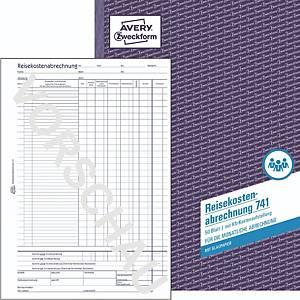 Reisekostenabrechnung Avery Zweckform 741 , monatlich, A4, mit Blaupapier, 50Bl