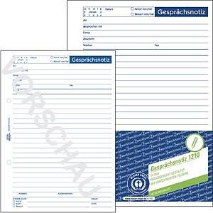 Avery Zweckform 1210 Gesprächsnotiz, A5, Recycling-Papier, 50 Blatt