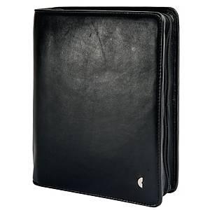 Ringbuch Chronoplan 50102 Business Edition, A5, Kalbnappaleder, schwarz