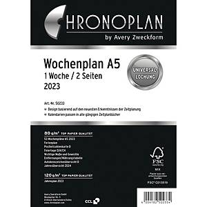 Wochenplan 2020 Chronoplan 50230, 1 Woche / 2 Seiten, A5