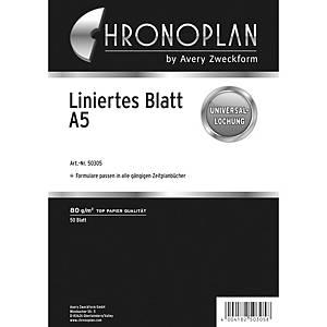 Notizblätter Chronoplan 50305, liniert, A5, 50 Blatt