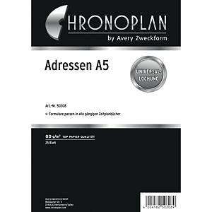 Adressformulare Chronoplan 50308, A5, weiß, 25 Blatt