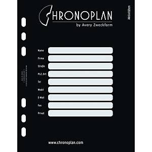 Register Chronoplan 50402, A5, schwarz 31teilig