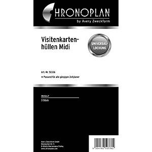 Visitenkartenhüllen Chronoplan 50336, Midi, 3 Stück