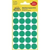Avery Zweckform 3006 Markierungspunkte, Ø 18 mm, 4 Bogen/96 Etiketten, grün