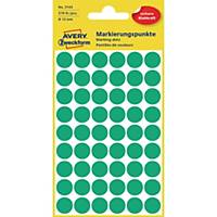 Markierungspunkte Avery Zweckform 3143, Ø 12 mm, grün, 270 Stück