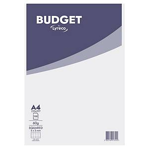 LYRECO BUDGET NOTEPAD MICROPERFORATED A4 SQUARED 5X5 - 100 SHEETS