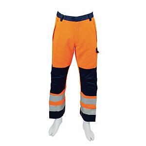 Spodnie ostrzegawcze PORTWEST MV36 pomarańcz-granat, rozmiar L