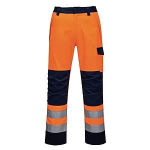 Pantaloni alta visibilità Portwest MV36 arancione/nero tg XL