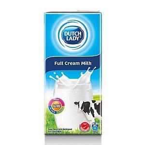 Dutch Lady Milk Full Cream UHT 1l - Pack of 12