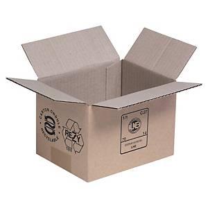 Kartonnen doos enkelgolfkarton, B 140 x H 140 x L 200 mm, per 25 dozen