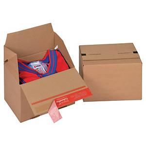 ColomPac® EURO doboz, 195 x 145 x 140 mm, barna, 20 darab