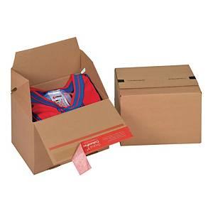 Karton COLOMPAC Eurobox, wymiary w mm: dł. 195 x szer. 145 x wys. 140, 20 sztuk