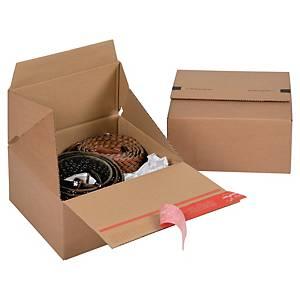 EURO krabice ColomPac®, 194 x 194 x 87 mm, hnědá, 10 kusů