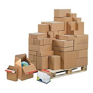 Karton COLOMPAC Eurobox, wymiary w mm: dł. 294 x szer. 194 x wys. 87, 10 sztuk