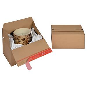 EURO krabice ColomPac®, 294 x 194 x 137 mm, hnědá, 10 kusů