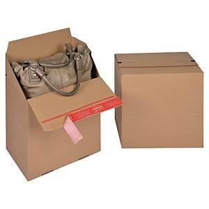 ColomPac® Euro-boxes bruine kartonnen doos, 194 x 287 x 194 mm, per 10 dozen