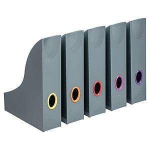 DURABLE 770657 MAGAZINE RACK ANTHRACTITE PACK 5