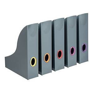 Durable Varicolor Magazine Rack Anthracite Grey - Pack of 5