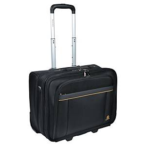 Trolley Koffer Exacompta Exactive, 15.6  , schwarz
