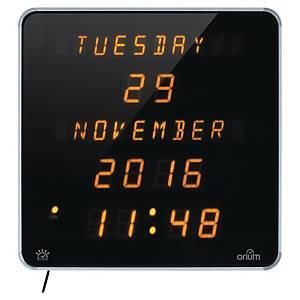 Orologio da parete digitale Orium by Cep quadrato nero