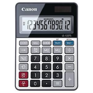 Calculatrice Canon LS-122TS, affichage 12caractères, argenté