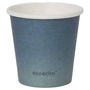 Pack de 50 vasos Duni Urban «Eco Echo» - papel y PLA - 80 ml - azul
