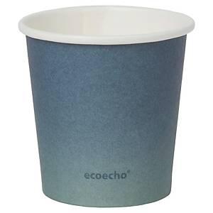 Pack de 50 vasos Duni Urban «Eco Echo» - papel y PLA - 120 ml - negro