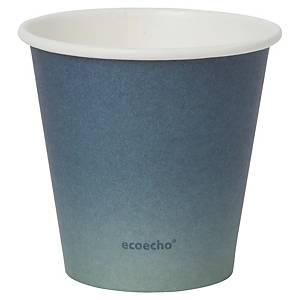 Pack de 40 vasos Duni Urban «Eco Echo» - papel y PLA - 180 ml - azul