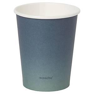 Pack de 40 vasos Duni Urban «Eco Echo» - papel y PLA - 240 ml - azul