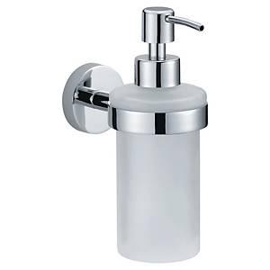 Dispenser sapone mani liquido adesivo tesa® Smooz in acciaio e vetro
