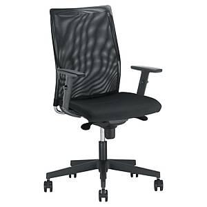Intrata bureaustoel, stof/mesh, zwart