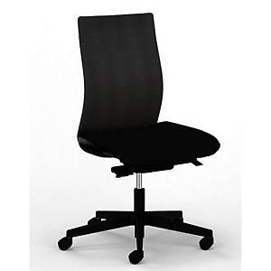 Bürostuhl Synchron Taktik, gepolsteter Sitz, schwarz