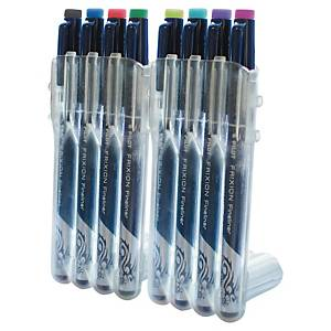 Pilot Frixion Fineliner 8 Assorted Colour Pens Wallet of 8