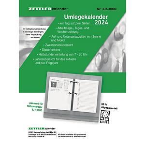 Umlegekalender-Ersatzblock 2021 Zettler 336, 1 Tag / 2 Seiten, 8x11cm