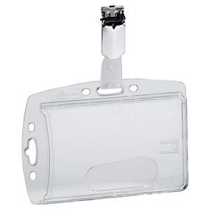 Durable 8906-19 badgehouder voor bedrijfspassen, transparant, pak van 40