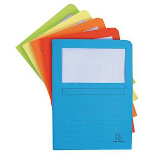 Exacompta SUPER Window Files, Assorted Colours - Pack 50