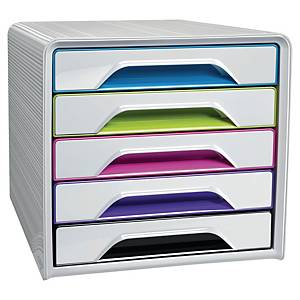 Cep Smoove Arctic 5-Drawer Unit White/Assorted