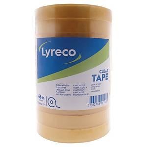 Tape Lyreco, klar, 15 mm x 66 m, pakke a 10 ruller