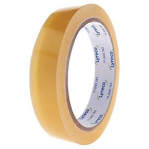 Tape Lyreco, klar, 19 mm x 66 m, pakke a 8 ruller