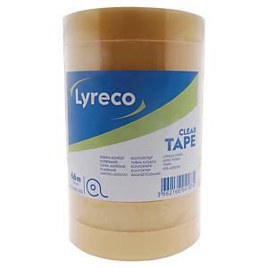 Lyreco priehľadná lepiaca páska 19 mm x 66 m, 8 pások