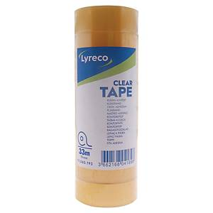 Lyreco Clear Tapes 3/4 inch x 36yd - Tube of 8